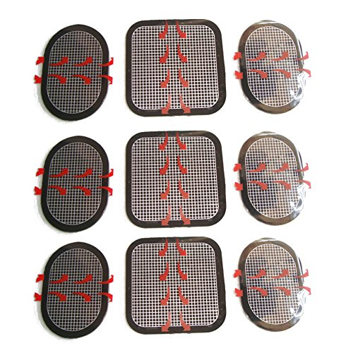 Globalflashdeal EMS-kompatible Austausch-Pad 3 x 3 Saetze Gesamt 9 (3 Fuer vorne und 6 Fuer die Flanke)