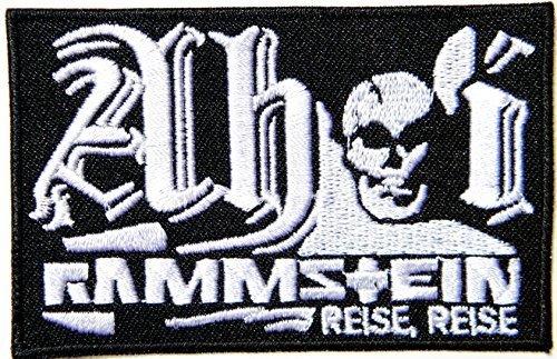 Rammstein Reise Reise Logo Band Heavy Metal Punk Rock Giacca Uomo Cappello coperta Zaino T Shirt Patch ricamato appliques simbolo Badge panno Sign costume regalo da grandi Husky Musica cerotti