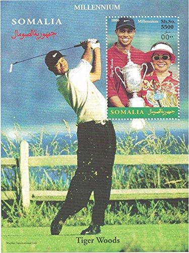 Briefmarken für Sammler-perforfated Stempel Tabelle mit Golf/Tiger Woods/Tiger Woods Spielen Golf/Trophy -