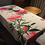 BUUYI Manteles Mesas de comedor Decoración Bamboo 100x140 cm Boda hotel restaurante Moderno sencillo