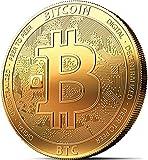 Moneda física de Bitcoin revestida en oro auténtico de 24 quilates. Una verdadera pieza de coleccionista, con estuche protector – Colección 2018. Una adquisición obligada para todo fanático del Bitcoin + E-book GRATIS contra ataques cibernéticos