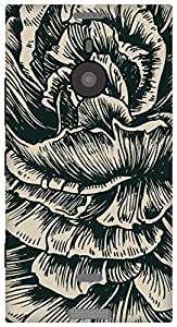 The Racoon Grip printed designer hard back mobile phone case cover for Nokia Lumia 1520. (rose sketc)