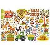 Bilderwelten Wandtattoo Großes Bauernhof-Set Wandtattoo Wandsticker Kinderzimmer Illustration, Größe: 30cm x 45cm