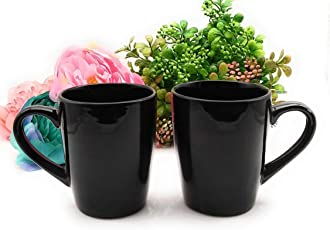 Satyam Kraft Pack of 2 Ceramic Tea Cups/Coffee Mugs for Home