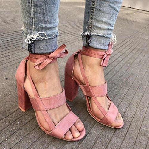 hunpta Sandales de Marche Pour Homme Rose