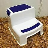 YXX- Baby-Schritt-Plastikhocker-Gebrauchs-kleine Fuß-Schemel für Kleinkinder Badezimmer-2 Schritt-Schemel-Leiter für Kinder-potty Training (Farbe : Blue)