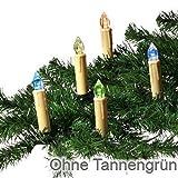 Trango 24 LED Weihnachtskerzen mit Stecksystem Innenbereich mit RGB Farbwechsel TG340146RGB