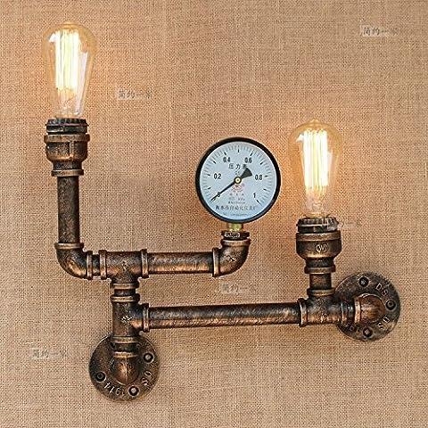 Modeen Vintage Water Pipe Applique murale Applique murale industrielle en