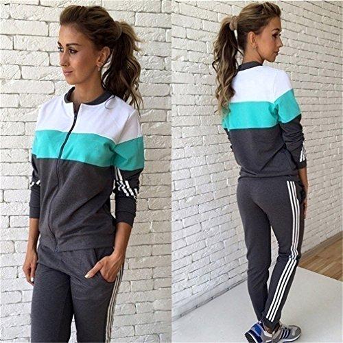 Yinew Langärmelige Pullover Sport Hose Sportkleidung Zweiteiliger Anzug Selbstkultivierung Traf Damen Frauen Mädchen