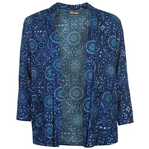 Lee Cooper All Over Druck Blazer Damen blau Jacke Oberbekleidung XS blau