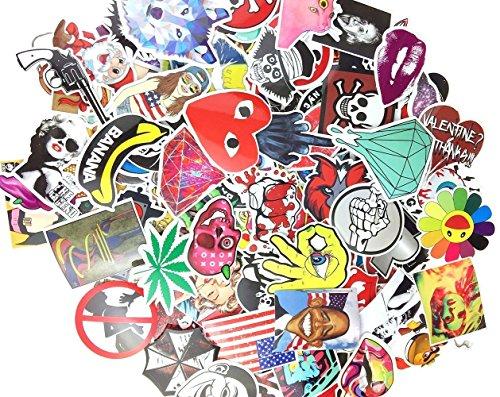 Preisvergleich Produktbild (Packung von 200) Random Musik Film Vinyl Skateboard Gitarre Reise Fall Aufkleber Lot Pack Decals