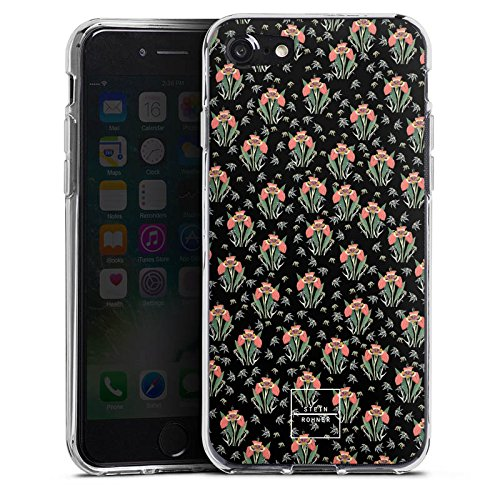 Apple iPhone X Silikon Hülle Case Schutzhülle Steinrohner Tigerlily Blumen Silikon Case transparent
