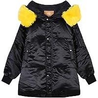 ElFSACK - Piumino invernale da donna, con cappuccio in pelliccia, effetto piumino