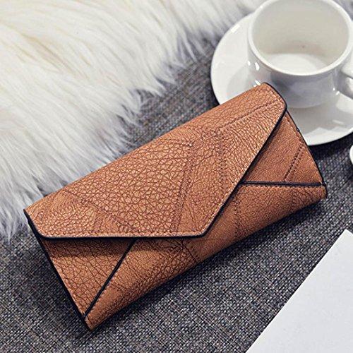 Portafoglio Donna, Tpulling Le donne fanno uso quotidiano il portafoglio della borsa della frizione della borsa (Black) Brown