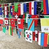G2PLUS 25M Flaggenkette Fahnenkette Wimpelkette mit 100 Zuf?llige L?nder Fahnen Flaggen Perfekte Dekorationen f¨¹r Bar, Party, Festival, Sportvereine