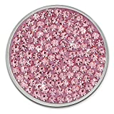 Amello Coin Edelstahl-Schmuck Coin mit Zirkoniaia rosa - Coin für Amello Coinsfassung für Damen - - 30 mm, Größe M Edelstahlschmuck Stainless Steel ESC301A