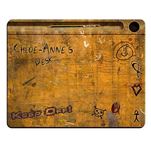 chloe-anne Schreibtisch-Vintage Schule Schreibtisch personalisierbar Premium Mauspad (5Dick).