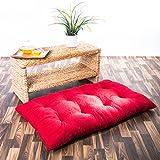XXL Bodenkissen Dekokissen gefüllt 100x60 cm - Rot
