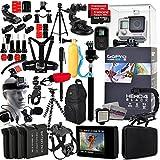 GoPro hero4Black Edition + 128GB Speicher + 3x Akku + Head Strap + Stativ + Einbeinstativ + Chest Mount + Selfie Stick + Mikrofon + Gehäuse + Ultimate Profi Bundle Zubehör Kit (chdhx-401)