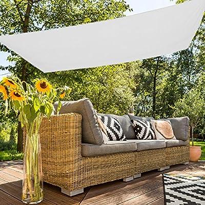 Aktive Sonnensegel für Garten, Polyester, 2x 3m, weiß (COLORBABY 53916) von ColorBaby - Gartenmöbel von Du und Dein Garten