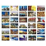 Schöne Reise-Landschaft 30PCS Künstlerische Retro Postkarten-Paris
