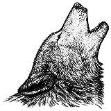 Feinkontur-Stempel | Scrapbooking, Handwerk, Heimwerk, DIY, Grußkartengestaltung (Wolf, 15 x 15 cm)
