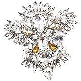 B Blesiya Clip de Zapatos Nupciales con Diamantes Artificiales Brillantes Broche Cristalino para Calzado de Fiesta Novia