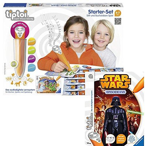 Preisvergleich Produktbild Ravensburger tiptoi® 2er Set Starter-Set: Stift und Buchstaben-Spiel + Buch Star Wars: Episode 1-6