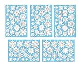 Aomon 110 Fensterdeko Schneeflocken Weihnachten Fensterbilder Schneeflocken mit 45 weißen Punkten-Statisch Haftende Aufkleber