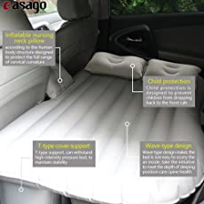 Casago CSMRD1P Universal Inflatable Car Bed Mattress with Two Pillows, Air Pump and Repair Kit for Car Back Seat Rest (Random)