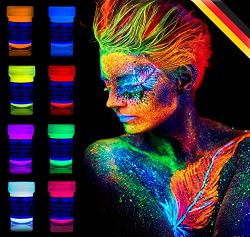 neon-nights-black-light-fluorescent-uv-neon-body-paint-make-up-8-x-20ml