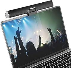 Portable Lautsprecherleiste, Ikanoo USB Kabel Powered Sound Bar Clips auf Laptop oder Stände auf dem Desktop, Soundbar Lautsprecher für Notebook Laptop PC TV