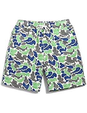HAIYOUVK Camouflage Couple Beach Pants Men And Women Quick-Drying Large Size Loose Casual Shorts At Sea Resort...
