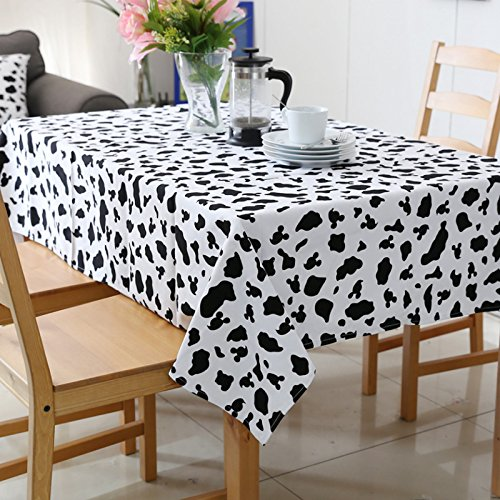 Tabgw Nappe rectangulaire salle à manger jardin hotel restaurant café table tissu couvercle simple style blanc 140x200cm Accessoires pour la maison