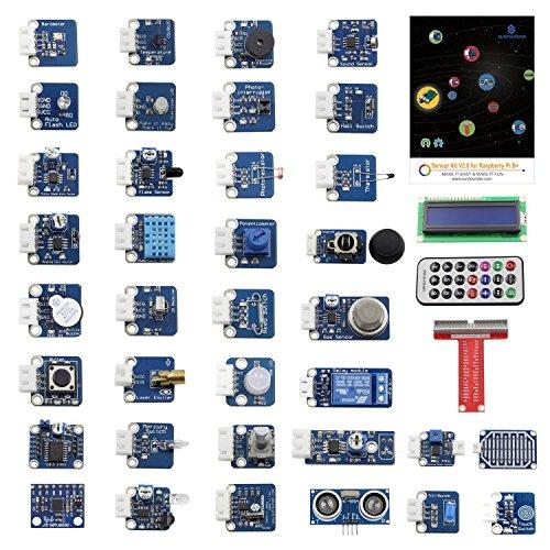 Preisvergleich Produktbild SunFounder 37 Module Sensor Kit V2.0 für Raspberry Pi 3, 2 und RPi Model B+, 40-Pin GPIO Extension Board Jump wires
