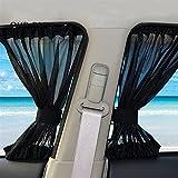 Ommda Sonnenschutz Mesh-Tuch und SichtSchutz Mesh-Tuch Seitenscheibe Universal Sonnenschutz Mesh-Tuch Auto Baby mit UV Schutz Mesh-Tuch 2er Pack Vorhänge Schwarz 70cmx39cm