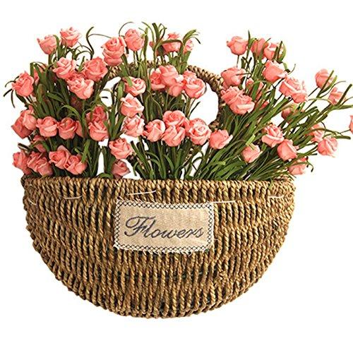 An der Wand montiert Runden Blumentopf Handgemacht Geflochtene Korbgeflecht/Töpfe Home Decor (Größe optional), large