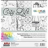 Apli Kids–14637180g/m² ciudad vida Scrap reserva tarjeta (Pack de 6)