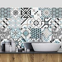 72 (Piezas) Adhesivo para Azulejos 10x10 cm - PS00054 - Oslo - Adhesivo Decorativo para Azulejos para baño y Cocina - Stickers Azulejos - Collage de Azulejos