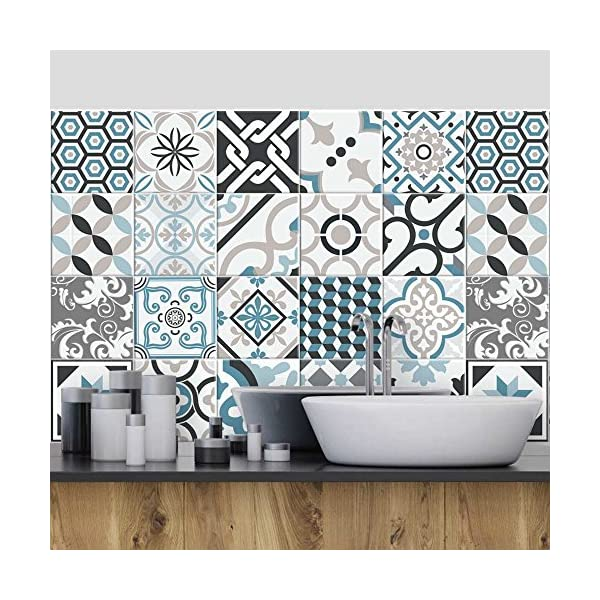 Wall Art Ps00054 Adesivi In Pvc Per Piastrelle Per Bagno E
