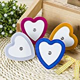 Ascension Heart Shape Automatic Sensor Control LED Diffuse Eye Protecting Energy Saving Night Lamp Kids Favourite Birthday & Party Return Gifts (Random Colour)