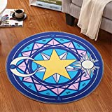 IMON LL TappetiSuperb Kids/Childs Tappeto Girl Sakura Abstract Mordern Rugs Tappeti per Bambini Round Floor,6,100 * 100cm