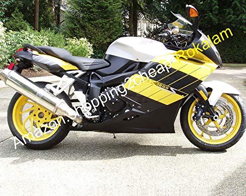 Kit de carénage pour k1200s parties 2005 - 2008 K1200s 2005 2006 2007 2008 K 1200S 05 06 07 08 Jaune Noir ABS pour moto