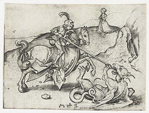 Das Museum Outlet-Der Saint George und der Drache 1. 1470-1490-A3Poster