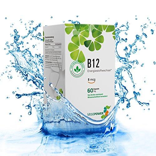 VegePower Vitamin B12 Kapseln - Vegan - Hergestellt in Deutschland