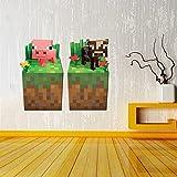 Minecraft Wandtattoo Wallsticker Sticker Pig Cow