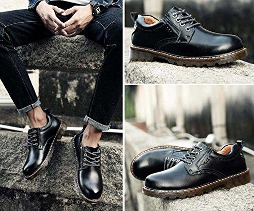 Pump Business Chaussures décontractées Chaussures habillées Hommes Automne et hiver Round Toe Shoelace Antidérapant en caoutchouc Sole Classic Style Driving Shoes Eu Taille 38-45 Black