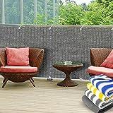 Balkon Sichtschutz UV-Schutz | 90x500cm | wetterbeständiges und pflegeleichtes HDPE-Spezialgewebe | grau