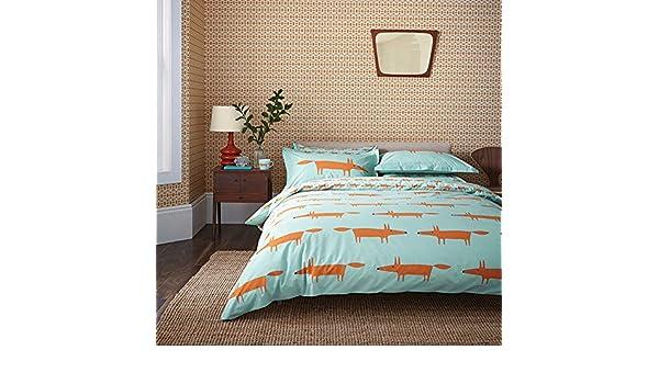 Scion Mr Fox Bettwasche Set Fur Doppelbett Aqua Amazon De Kuche