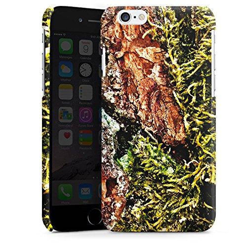 Apple iPhone 4 Housse Étui Silicone Coque Protection Écorce Bois Marais marécage mousse Cas Premium brillant